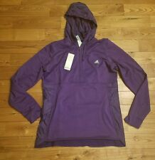 NWT Women's Purple ADIDAS Climawarm Half Zip Hoody Sweatshirt Size Medium M