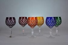"""Crystal glass Wine glasses set of 6 from Poland  """"HANDMADE"""" Mix"""