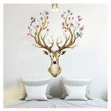 3D Plum flower deer Wall Stickers DIY Decoration PVC Removable Waterproof