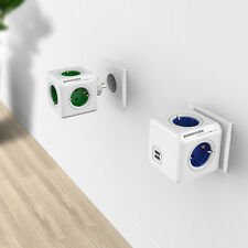 Allocacoc Germany Power Extension Adapter Socket Switched Socket Dual USB F13670