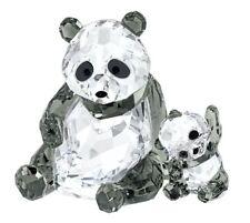 Swarovski Panda Mother With Baby, Bear Crystal Figurine Authentic MIB 5063690