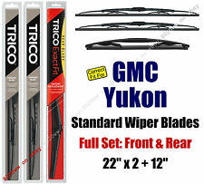 Wiper Blades 3-Pack Front Rear Standard - fit 2009-2014 GMC Yukon - 30221x2/12E