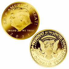 2021 President Donald Trump Gold Plated Commemorative Coin Keep America Great