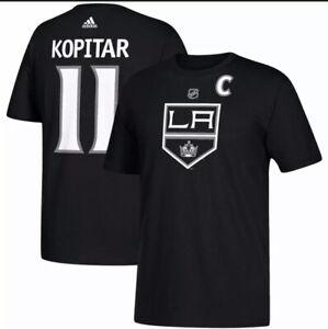 Los Angeles KINGS ANZE KOPITAR PLAYER LA SHIRT Adidas Hockey Black Men's Captain