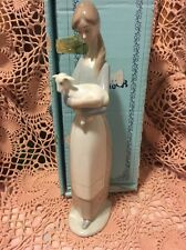 Lladro 4505 Little Girl with Lamb Retired! Mint condition! Original Blue Box!