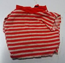 Vintage 1964 Barbie Doll Clothes Fashion Pak Red White Striped Muscle T-Shirt
