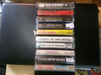 Rod Stewart,Percy Sledge and others  Mixed genere, lot of 10 cassette tapes