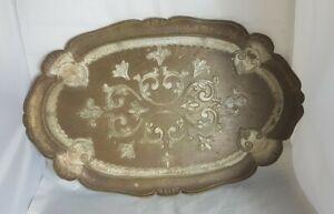Beaitiful Vintage Italian Florentine Tray