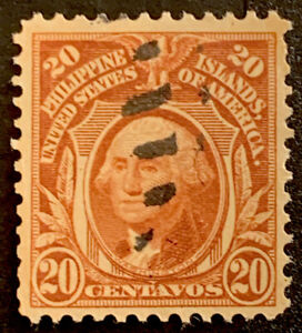H9/123 US Philippines Stamp 1899 PH248 20c UNHNG Very Fresh Good Center Coll