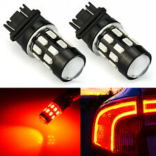 JDM ASTAR 2X Pure Red 3157 24-SMD Brake Tail Stop Light LED Bulbs 3057 3457 4157