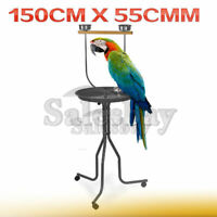 Large Steel Bird Parrot Playpen Gym Toy Stand on Wheels 150x55cm