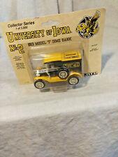 Ertl Univ.Of Iowa1913 Model T Dime Bank-#2- 1 of 5000-19921/43 Scale-NIB