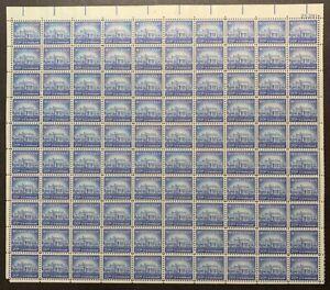 US #1047 1956 20c Monticello Sheet of 100, Rotary Press.  MNH (BCV $110)