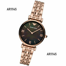 Emporio Armani Ladies Mother of Pearl Dial Rose Gold Tone Watch AR11145