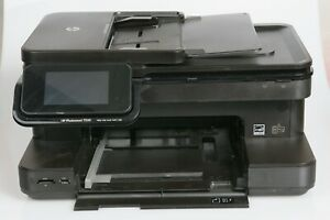 HP Photosmart 7520 All In One Inkjet Color Printer Copy Scan Fax + Power Adapter