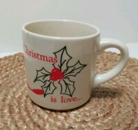 Vintage SEIFERTS 1986 Christmas is Love Holiday Coffee Cup Hot Chocolate Mug