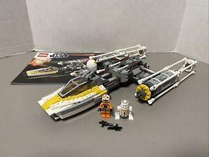Lego Star Wars Gold Leaders Y-Wing Starfighter 9594 - Incomplete w/2 Minifigs