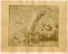 Cremière, paysan jardinier Vintage albumen print Tirage albuminé  2