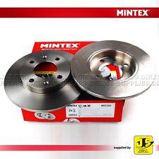 2X MINTEX FRONT BRAKE DISCS MDC293 CITROEN DALLA PEUGEOT 106 205 206 306 309 405