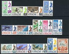 Gibilterra - 1960-62 set per £ 1 SG 160-173 unmounted Nuovo di zecca v11002