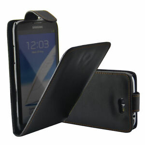 BLACK FLIP LEATHER PHONE CASE WITH CARD SLOT FOR SAMSUNG GALAXY S6 UK FAST POST