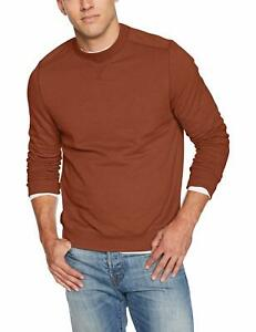 G.H. Bass & Co. Men's Mountain Sueded-Fleece Sweater, Saffron Spice, Small
