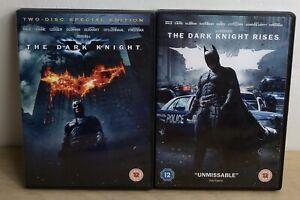 Batman Dark Knight 1 & Rises 2 Bundle Set DVD Boxed Region 2