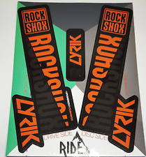 Rockshox Lyrik 2018 Style Sticker Decal Sets- Enduro, DH, Orange/Stealth
