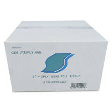 GEN Jumbo Bath Tissue 2-Ply White 9 in Diameter 12/Carton JRT2PLY1000
