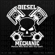 Skull Piston Diesel Sticker Decal Heavy Equipment...