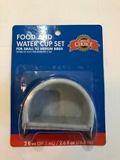 Grreat Choice Food and Water Cup Set for Small to Medium Birds Set of 2 New