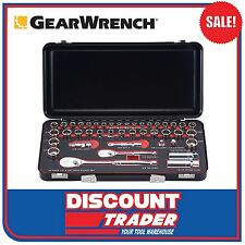 "GearWrench 42Pc 1/4"" 3/8"" Drive Socket Set Metric & Imperial Metal Case - 83050"