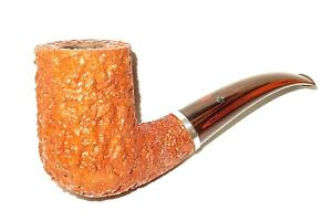 """LARRY ROUSH """"BELLA CERA"""" SANDBLAST / CARVED STYLE PIPE W/ SILVER RING - PIPESTUD"""