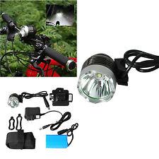 CREE XM-L T6 Headlamp Bike Flashlight Head Lamp W/ 6400mAh Battery Pack