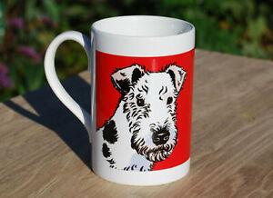 Fox Terrier porcelain single mug