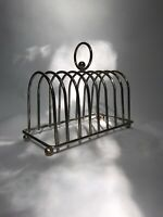 Large Edwardian Silver Plate 8 Slice Toast Rack