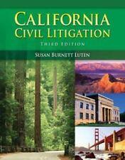 California Civil Litigation by Susan Burnett Luten Paperback 2008 5th ed
