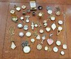 Lot of 39 Watch Ring Brooch Pin Pendant Necklace Bracelet Pocket Money Clip Vtg
