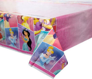 Disney Princess Happy Birthday party plastic TABLECLOTH 1 table cover Ariel +