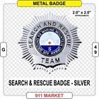 Search & Rescue Badge Silver SAR EMT Paramedic FF Patch SR and Marine Urban G 49