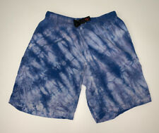 BOYS Vintage Gramicci Blue Tie Dye Shorts Size Youth Large 14/16