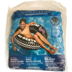 "Swimline 36"" Monster Tire Ring Swimming Pool Inflatable Tube - 9021 New"