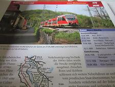 Archiv  Eisenbahnstrecken 470 Köln Koblenz linke Rheinstrecke