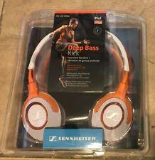 Sennheiser Deep Bass Kick Stereo HD229 White Orange Headphones NEW Factor sealed
