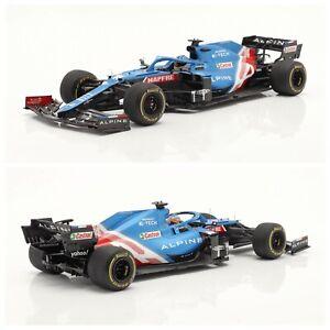 1/18 Spark Alpine A521 N°14 Alpine F1 Team Fernando Alonso Gp Bahrain 2021 New