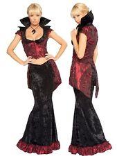 ~Black Velvet & Maroon Taffeta Vampire Costume~ L 10-12 Gothic Victorian
