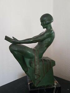 Femme danseuse  Art Déco Max Le Verrier 1930