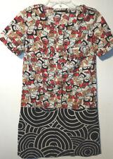 Retro 60s look size 0 dress tunic geometric funky preppy Totem