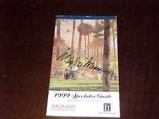 1999 The Players PGA Championship Mark O'Mera Signed Spectator Golf Media Guide