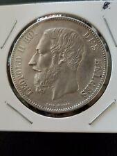 1868 Silver Belgium 5 Francs